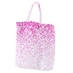 Halftone Dot Background Pattern Giant Grocery Zipper Tote
