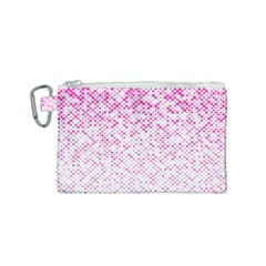 Halftone Dot Background Pattern Canvas Cosmetic Bag (small)