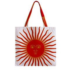 Peru Sun Of May, 1822 1825 Zipper Grocery Tote Bag by abbeyz71