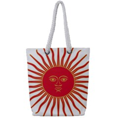 Peru Sun Of May, 1822 1825 Full Print Rope Handle Tote (small) by abbeyz71