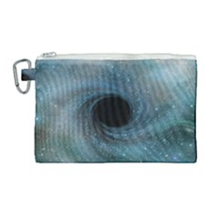 Cosmic Black Hole Canvas Cosmetic Bag (large) by Sapixe