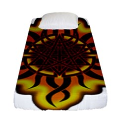 Disturbed Is An American Heavy Metal Band Logo Fitted Sheet (single Size) by Sapixe