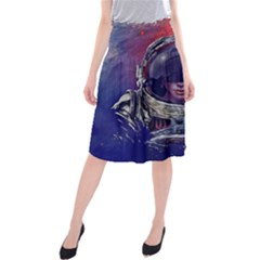 Eve Of Destruction Cgi 3d Sci Fi Space Midi Beach Skirt