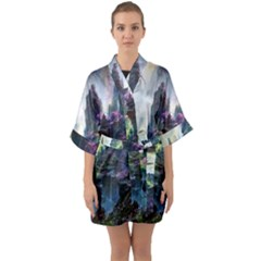 Fantastic World Fantasy Painting Quarter Sleeve Kimono Robe