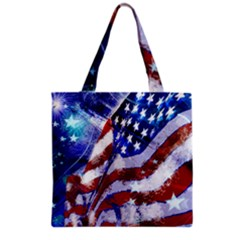 Flag Usa United States Of America Images Independence Day Grocery Tote Bag by Sapixe