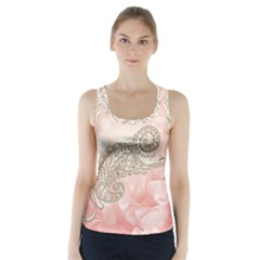 Wonderful Soft Flowers With Floral Elements Racer Back Sports Top