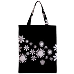 Flower Power Flowers Ornament Zipper Classic Tote Bag by Sapixe