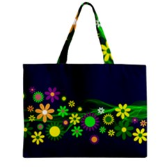 Flower Power Flowers Ornament Zipper Mini Tote Bag by Sapixe