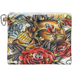 Flower Art Traditional Canvas Cosmetic Bag (xxxl) by Sapixe