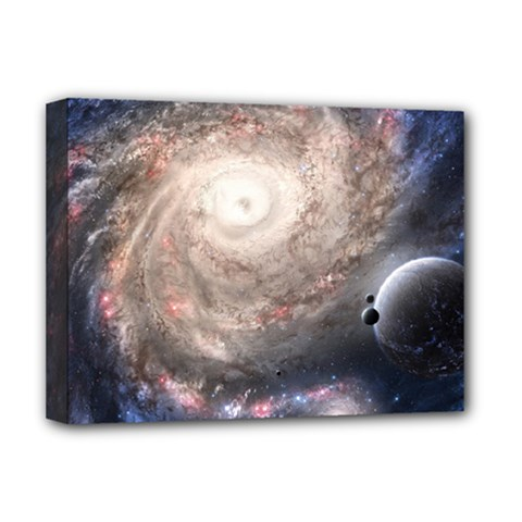 Galaxy Star Planet Deluxe Canvas 16  X 12   by Sapixe
