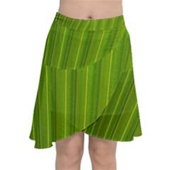 Green Leaf Pattern Plant Chiffon Wrap by Sapixe