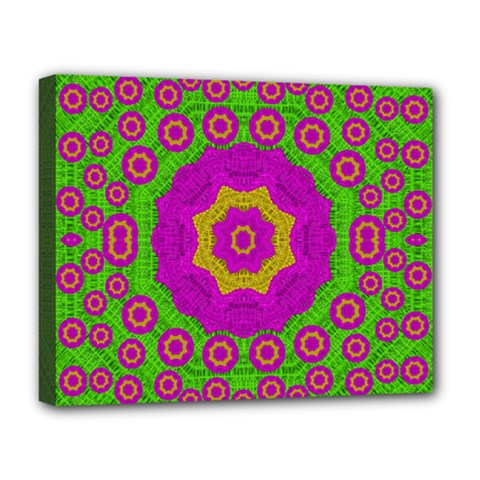 Decorative Festive Bohemic Ornate Style Deluxe Canvas 20  X 16   by pepitasart