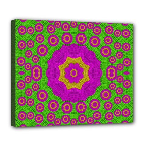 Decorative Festive Bohemic Ornate Style Deluxe Canvas 24  X 20   by pepitasart