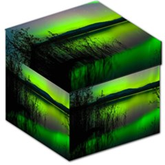 Green Northern Lights Canada Storage Stool 12   by Sapixe