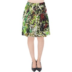 April   Birds Of Paradise 5 Velvet High Waist Skirt
