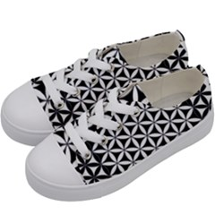 Flower Of Life Hexagon Cube 4 Kids  Low Top Canvas Sneakers by Cveti