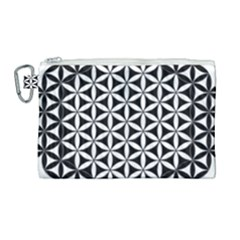 Flower Of Life Hexagon Cube 4 Canvas Cosmetic Bag (large) by Cveti