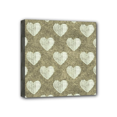 Hearts Motif Pattern Mini Canvas 4  X 4  by dflcprints
