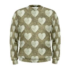 Hearts Motif Pattern Men s Sweatshirt by dflcprints