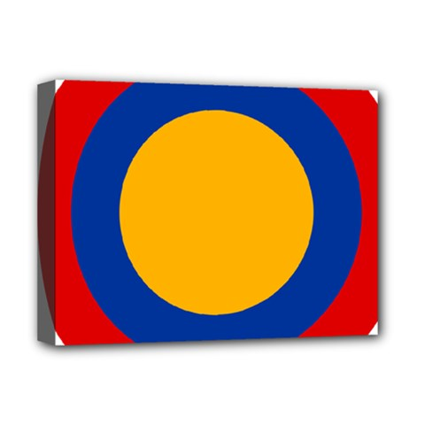 Roundel Of Armenian Air Force Deluxe Canvas 16  X 12   by abbeyz71