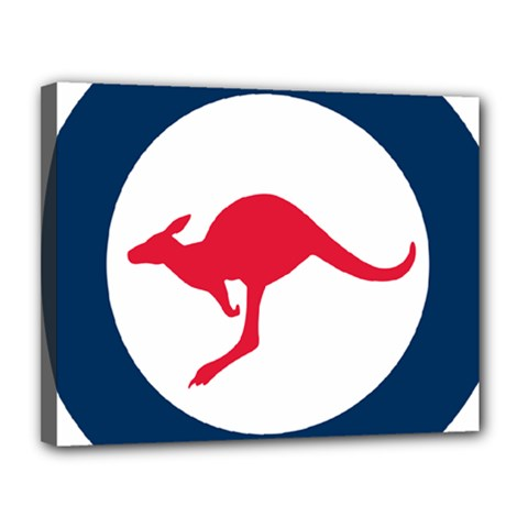 Roundel Of The Australian Air Force Canvas 14  X 11  by abbeyz71