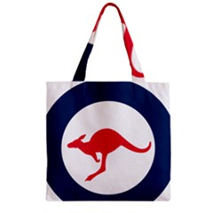 Roundel Of The Australian Air Force Zipper Grocery Tote Bag by abbeyz71