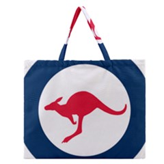 Roundel Of The Australian Air Force Zipper Large Tote Bag by abbeyz71