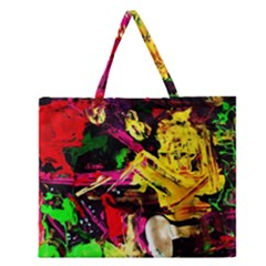 Spooky Attick 1 Zipper Large Tote Bag