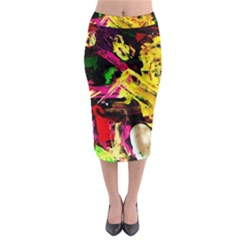 Spooky Attick 1 Midi Pencil Skirt