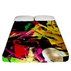 Spooky Attick 1 Fitted Sheet (queen Size)