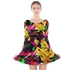 Spooky Attick 1 Long Sleeve Velvet Skater Dress