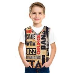 Guitar Typography Kids  Sportswear by Sapixe