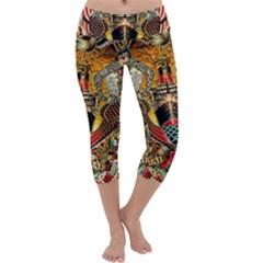 Hail Fine Art Print Capri Yoga Leggings by Sapixe