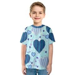 Hearts Pattern Paper Wallpaper Kids  Sport Mesh Tee