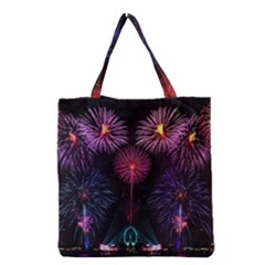 Happy New Year New Years Eve Fireworks In Australia Grocery Tote Bag by Sapixe