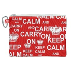 Keep Calm And Carry On Canvas Cosmetic Bag (xl) by Sapixe