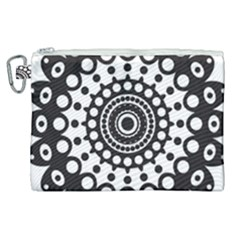 Mandala Geometric Symbol Pattern Canvas Cosmetic Bag (xl) by Sapixe