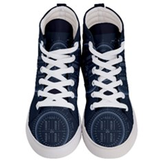 Minimalistic Knowledge Mathematics Trigonometry Men s Hi Top Skate Sneakers