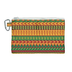 Mexican Pattern Canvas Cosmetic Bag (large) by Sapixe