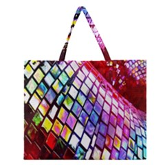 Multicolor Wall Mosaic Zipper Large Tote Bag by Sapixe