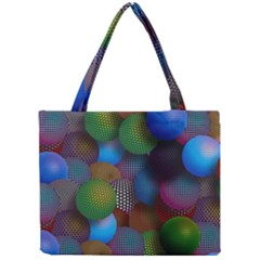 Multicolored Patterned Spheres 3d Mini Tote Bag by Sapixe