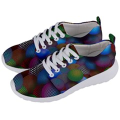 Multicolored Patterned Spheres 3d Men s Lightweight Sports Shoes by Sapixe