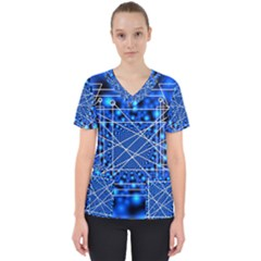 Network Connection Structure Knot Scrub Top