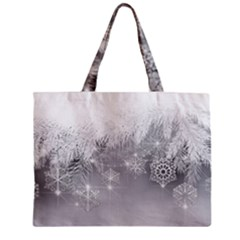 New Year Holiday Snowflakes Tree Branches Zipper Mini Tote Bag by Sapixe