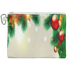 Ornament Christmast Pattern Canvas Cosmetic Bag (xxl) by Sapixe
