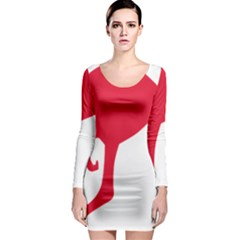 Australian Army Vehicle Insignia Long Sleeve Bodycon Dress