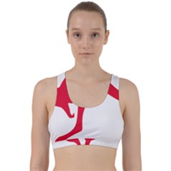 Australian Army Vehicle Insignia Back Weave Sports Bra
