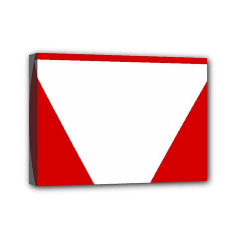 Roundel Of Austrian Air Force  Mini Canvas 7  X 5