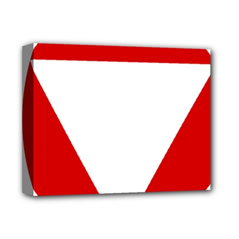 Roundel Of Austrian Air Force  Deluxe Canvas 14  X 11