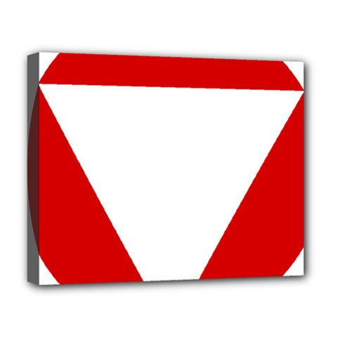 Roundel Of Austrian Air Force  Deluxe Canvas 20  X 16
